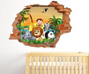 adesivo murale camera bambini