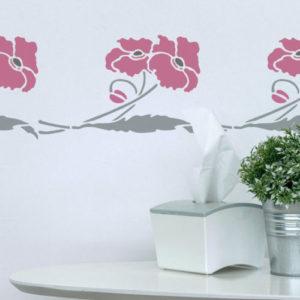 stencil papaveri fiori