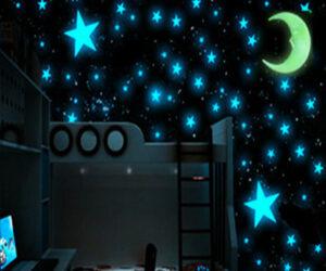 stelle e luna adesive