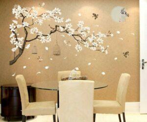 adesivi murali fiori decal arte