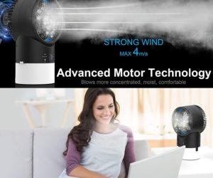 Raffreddatore D'aria Mini Condizionatore Portatile, EEIEER 4 IN 1