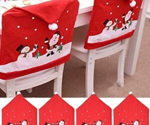 Outgeek copertina sedie motivo natalizio