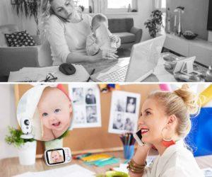 """Baby Monitor Videocamera con Visione Notturna,Schermo LCD da 3,2"""",AWANFI"""